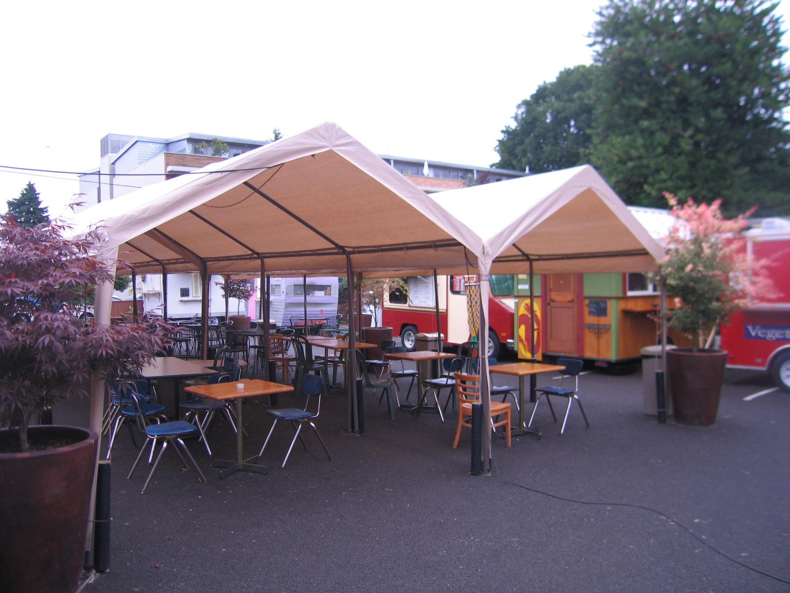 Portland Food Truck Pod Seating